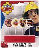"""Amscan International bdquo;Feuerwehrmann Sam""""-Mini-Kerzen zum Einstecken"""