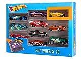 Hot Wheels Mattel 54886 Fahrzeuge 10er Geschenkset, 38 x 28 x 21 cm, farblich sortiert