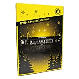 Borussia Dortmund Adventskalender, Schwarzgelb, 24 Edel-Vollmilch-Schokoladentürchen, BVB-Emblem one size
