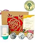 Badebomben aus Schafmilch, Schafmilchseife, Zirbe, Badeschokolade (Rose) Deluxe Geschenkset in hochwertiger Geschenkbox / Geschenk-idee für die Frau / von Grüne Valerie  Premium Manufaktur