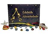 Davartis Edelstein Adventskalender - 24 Edelsteine mit Sammelstickern inkl. Sammelspaß Heft - Limited Edition