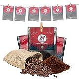 Premium Kaffee Adventskalender 2021 - Mit Liebe geröstet von Menschen mit Behinderung   Kaffee Geschenk für Männer und Frauen   fair   24 x 30 g Kaffeebohnen im Weihnachtskalender
