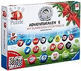 Ravensburger 3D Puzzle Bundesliga Adventskalender 2020 für Kinder und Erwachsene, 24 Überraschungen zum Thema Bundesliga, Ideal für Fußball-Fans