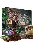 Adventskalender 2021 Kaffee gemahlene Bohnen I Kaffee Adventskalender mit 24 erlesenen Kaffee Sorten aus aller Welt als Probierset 480g feinster Kaffee Geschenk