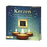 ROTH Kerzen-Adventskalender 2021 gefüllt mit Teelichtern und Duftkerzen, Motivkerzen-Kalender für die Vorweihnachtszeit