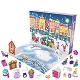 Polly Pocket GKL46 - Polly Pocket Adventskalender zum Thema Winterwunderland mit 25 Überraschungen