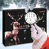 Schmuck Adventskalender 2021 Black Edition für Damen mit Ohrringe, Halsketten & Armbänder - Adventskalender Schmuck Kalender Damen Weihnachtskalender