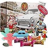 DDR Adventskalender 2021, 24 Türchen gefüllt mit unterschiedlichen DDR Spezialitäten und Produkten für eine besinnliche Weihnachtszeit mit Ostalgie Stimmung, Weihnachtskalender 2021 Geschenkset