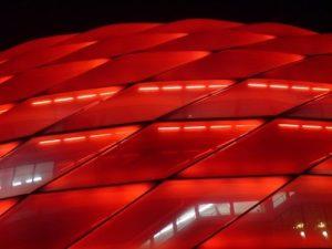 Allianzarena Muenchen Rot