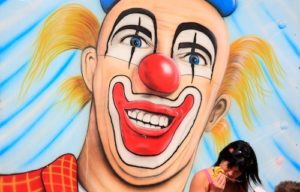 Clown witziges Gesicht