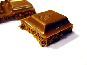 Stück Schokolade